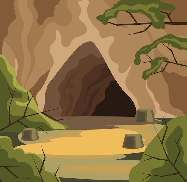 Starożytna jaskinia.