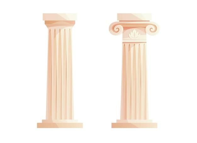 Starożytne greckie kolumny rzymski filar elementy projektu budowlanego i dekoracja