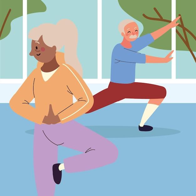 Starsza para sprawia, że aktywność fizyczna