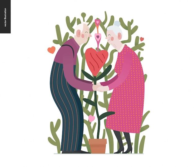 Starsze pary w miłości