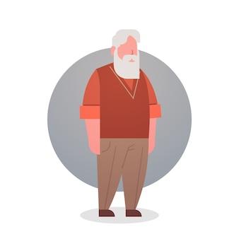 Starszy mężczyzna dziadek siwe włosy mężczyzna ikona pełna długość