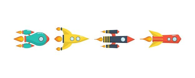 Start rakiety kosmicznej.