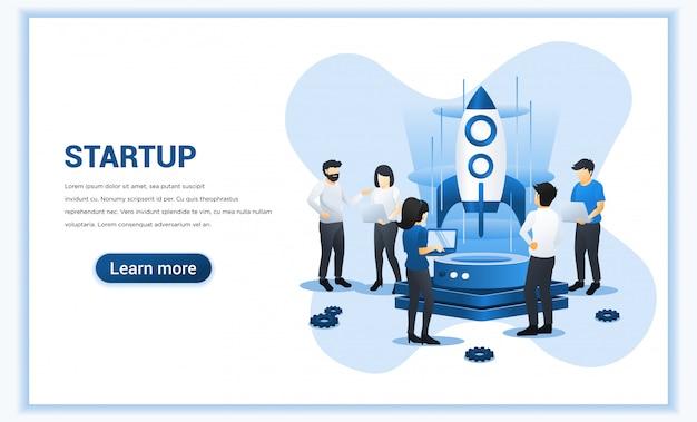 Start up koncepcja rozwoju biznesu.