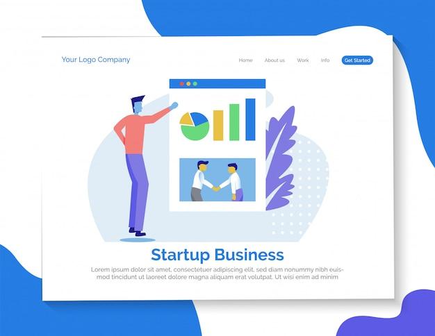 Startowa biznesowa strona docelowa