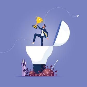 Startup i sukces w kryzysie finansowym koronawirusa