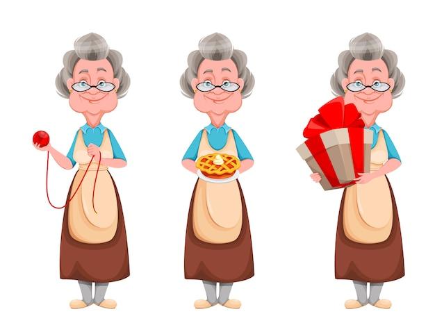 Staruszka. zestaw babci