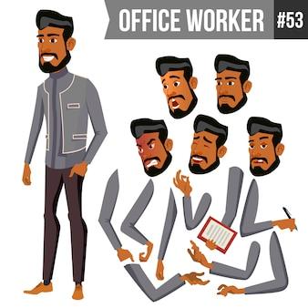 Stary arabski pracownik biurowy