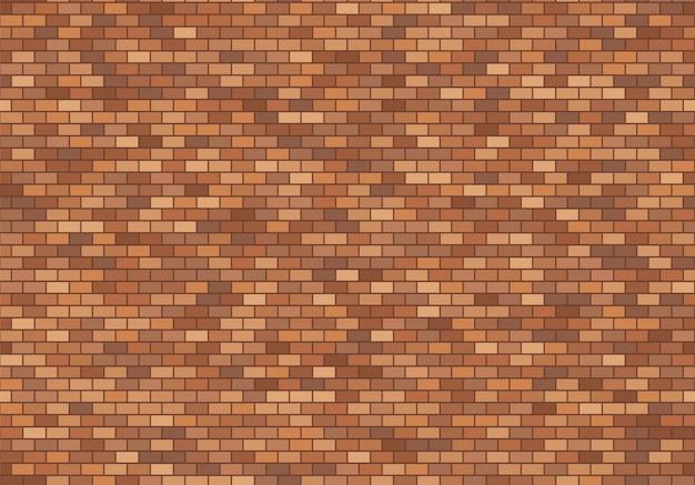 Stary ceglany mur tło. czerwonych cegieł tekstury bezszwowy deseniowy wektor.