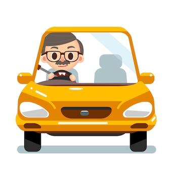 Stary człowiek jazdy