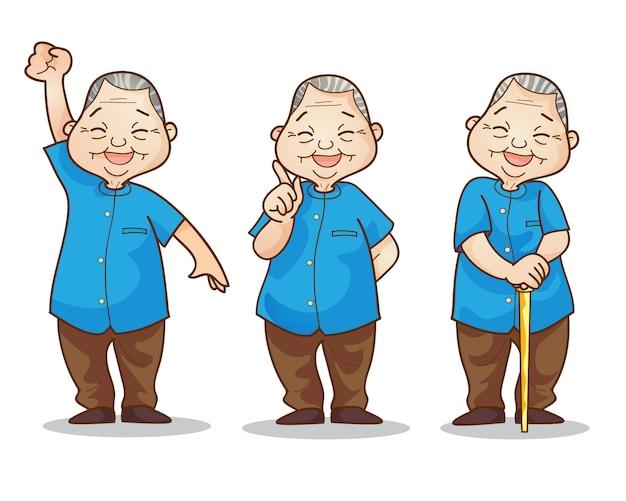 Stary człowiek łagodny