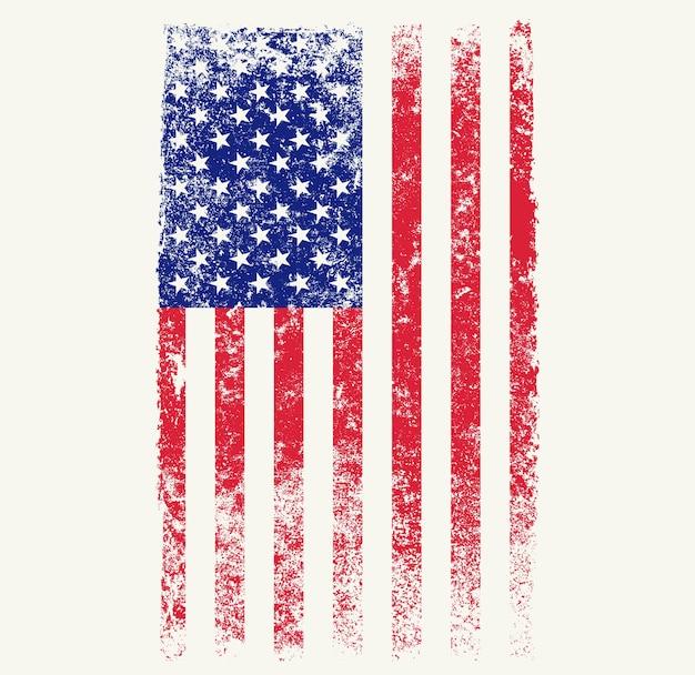 Stary grunge amerykańskiej flagi