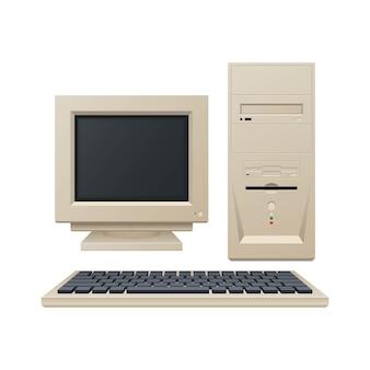 Stary komputer vintage ilustracji