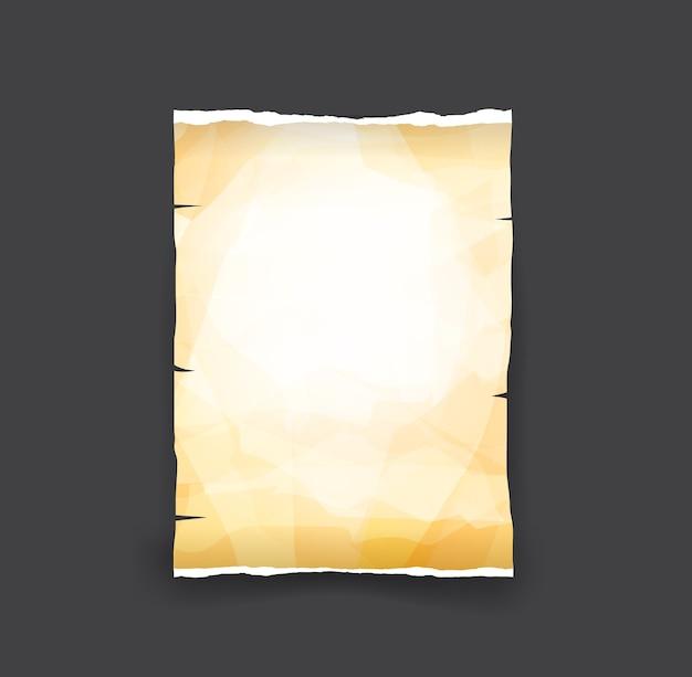 Stary łza papieru vintage i klasyczny element stylu