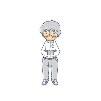 Stary nauczyciel profesjonalny charakter wektor ilustracja