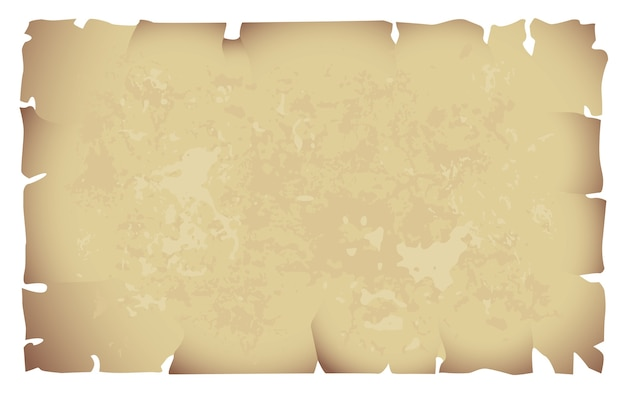 Stary papier na białym tle