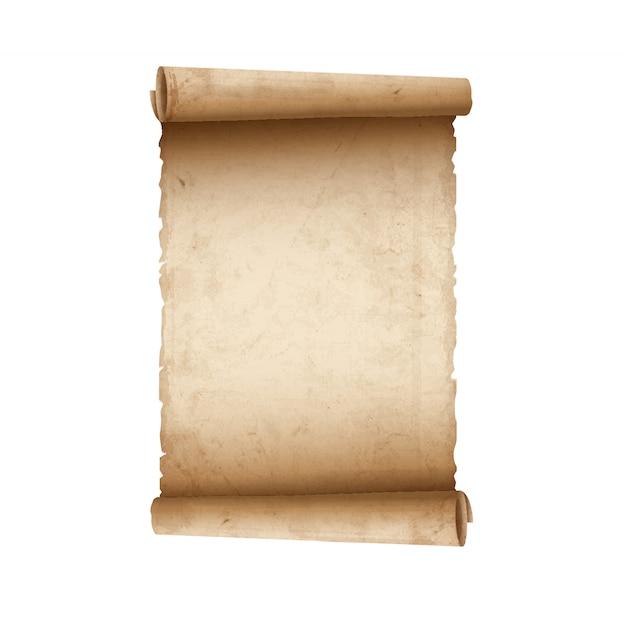 Stary papier przewijania