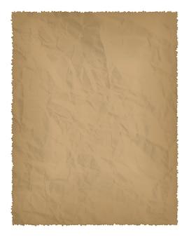 Stary papier z spalonymi krawędziami na białym tle z miejscem na tekst. ilustracja wektorowa