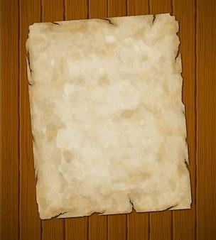 Stary podarty papier