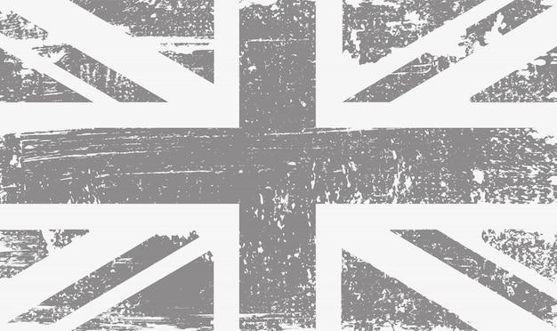 Stary rocznik zjednoczona królestwo flaga