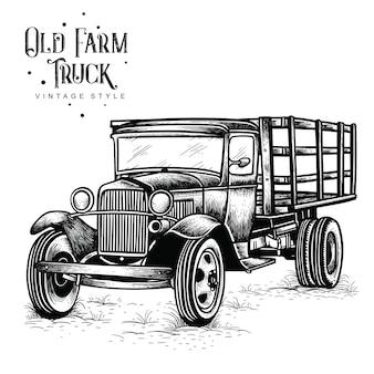Stary styl vintage ciężarówka gospodarstwa