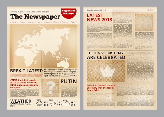 Stary szablon gazety
