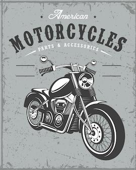 Stary sztandar motocykla na tle grunge