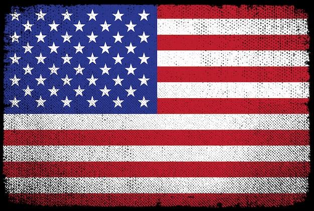 Stary teksturowanej amerykańską flagę