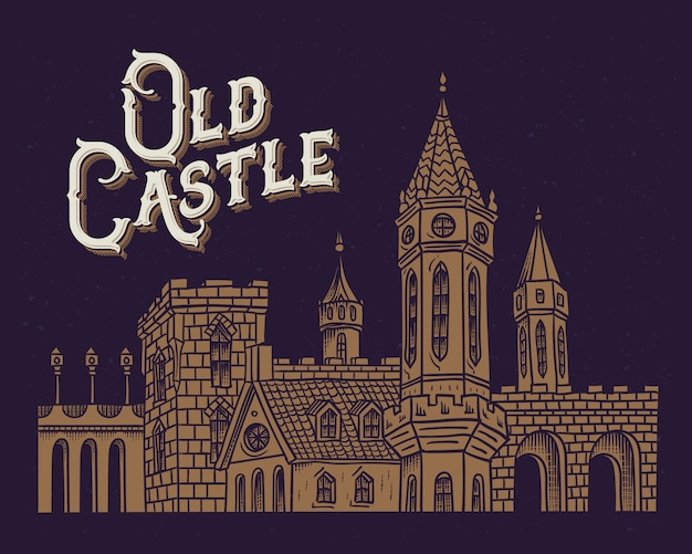 Stary zamek ilustracja