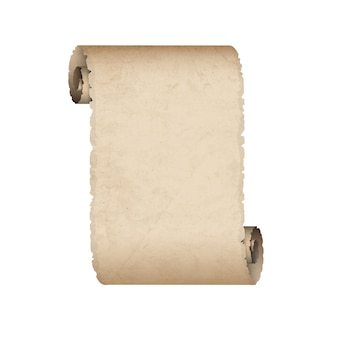 Stary zwój papieru