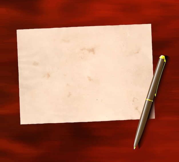 Starzejący się papier i długopis