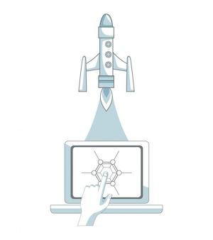 Statek kosmiczny kontrolowany przez pc