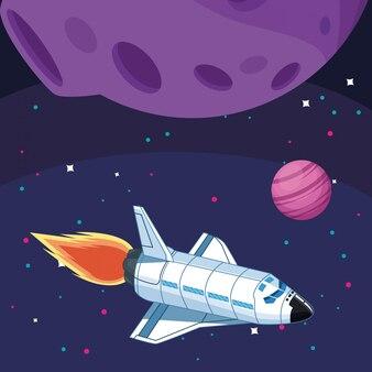 Statek kosmiczny księżyc planeta astronomia eksploracja kosmosu