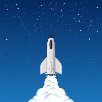 Statek kosmiczny leci do galaktyki