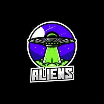 Statek kosmiczny rakieta statek galaktyka logo astronomii