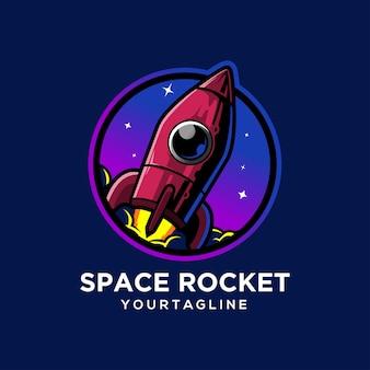 Statek kosmiczny rocket wystrzeliwuje galaktykę internetową