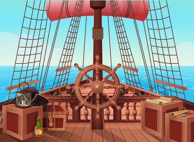 Statek piratów.
