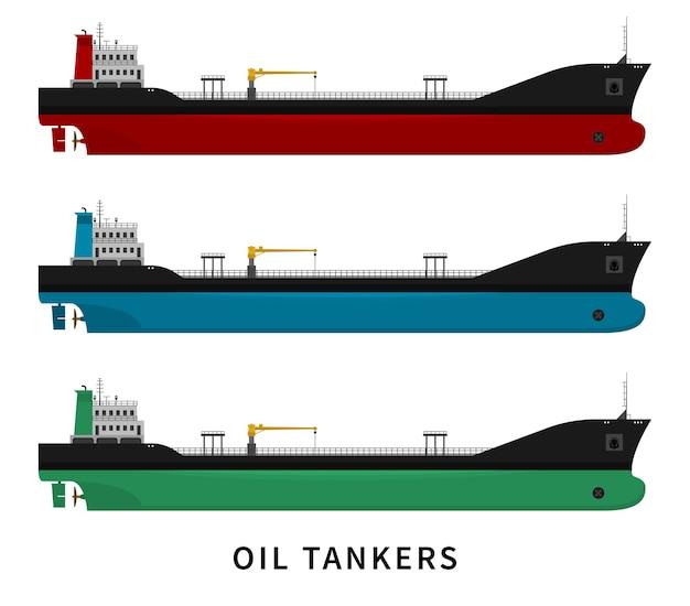 Statek towarowy z przemysłem transportu paliw i ropy naftowej