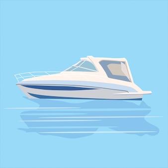 Statek transportowy łodzi motorowej