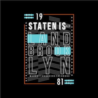 Staten wyspa tekst rama tło projekt graficzny