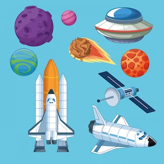 Statki kosmiczne i ikony satelitów