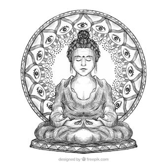 Statua buddha tło