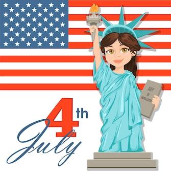 Statua wolności. 04 lipca. dzień niepodległości
