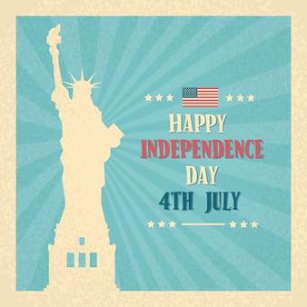 Statua wolności szczęśliwego dnia niepodległości