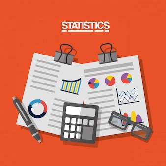 Statystyki danych wizerunku biznesowa ilustracja