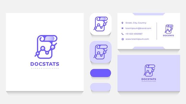 Statystyki dokumentu i szablon logo danych i wizytówka