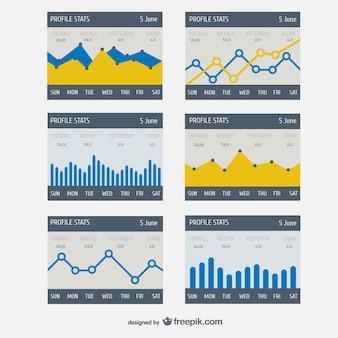 Statystyki profil wektor szablon