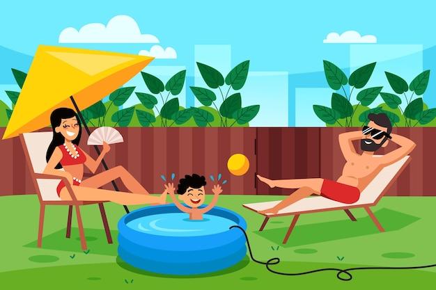 Staycation na podwórku