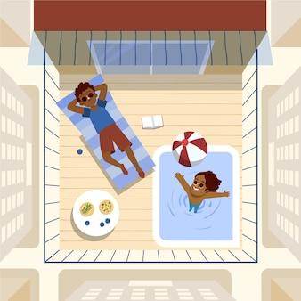 Staycation na tarasie na dachu