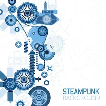 Steampunk futurystyczne tło