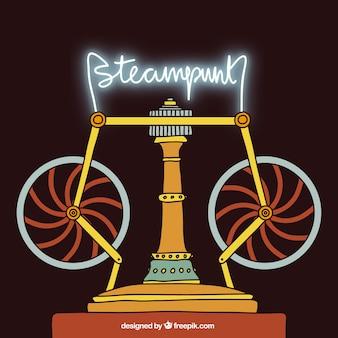 Steampunk maszyna tło